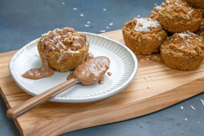 Golden Milk Breakfast Muffins with Almond Butter