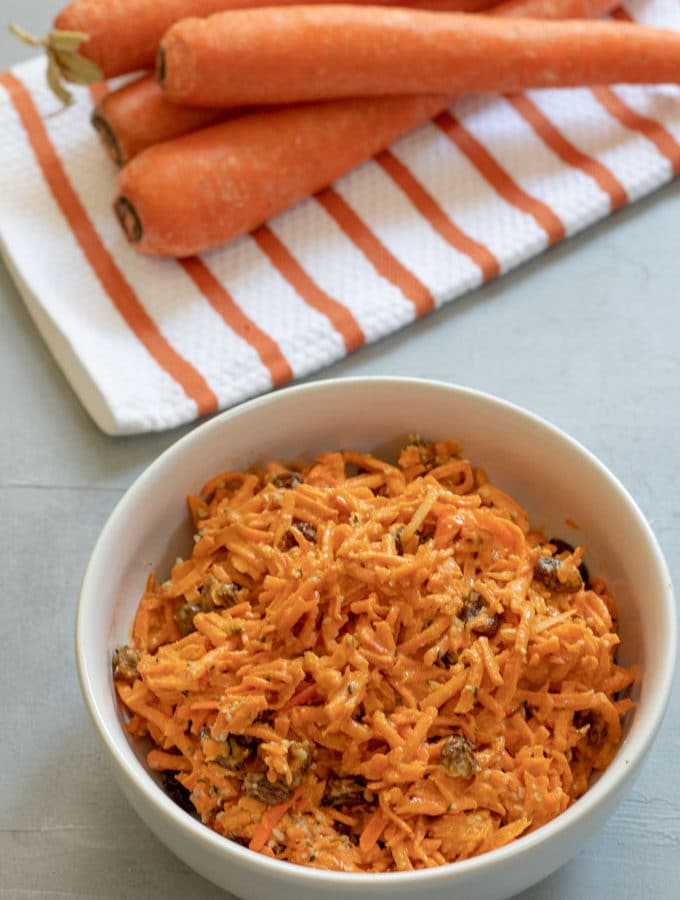 Carrot Raisin Salad with Tahini and Sriracha-2