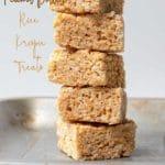 4 Ingredient Peanut Butter Rice Krispie Treats