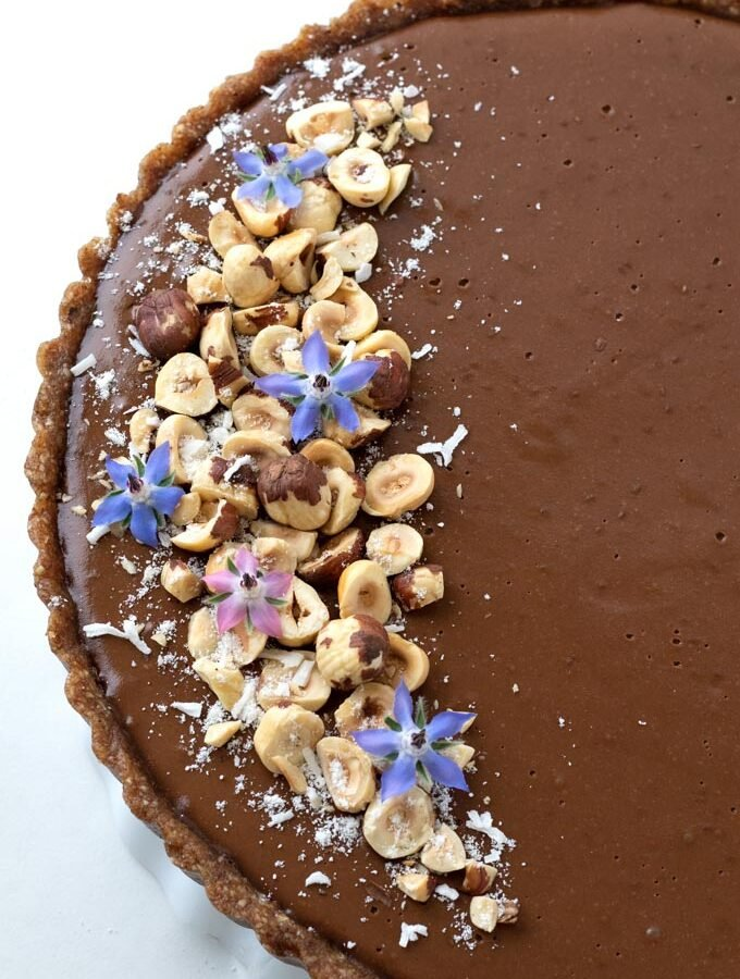Chocolate Chia Hazelnut Tart