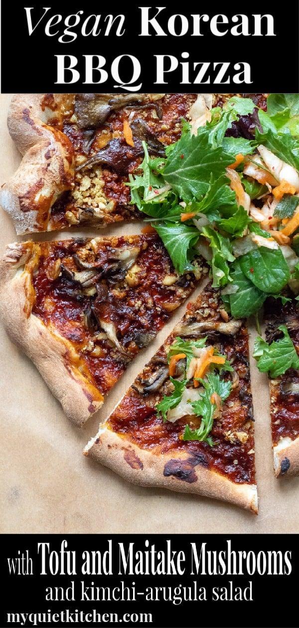 Korean BBQ Pizza Pin for Pinterest