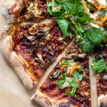 Korean Barbecue Pizza With Tofu and Maitake