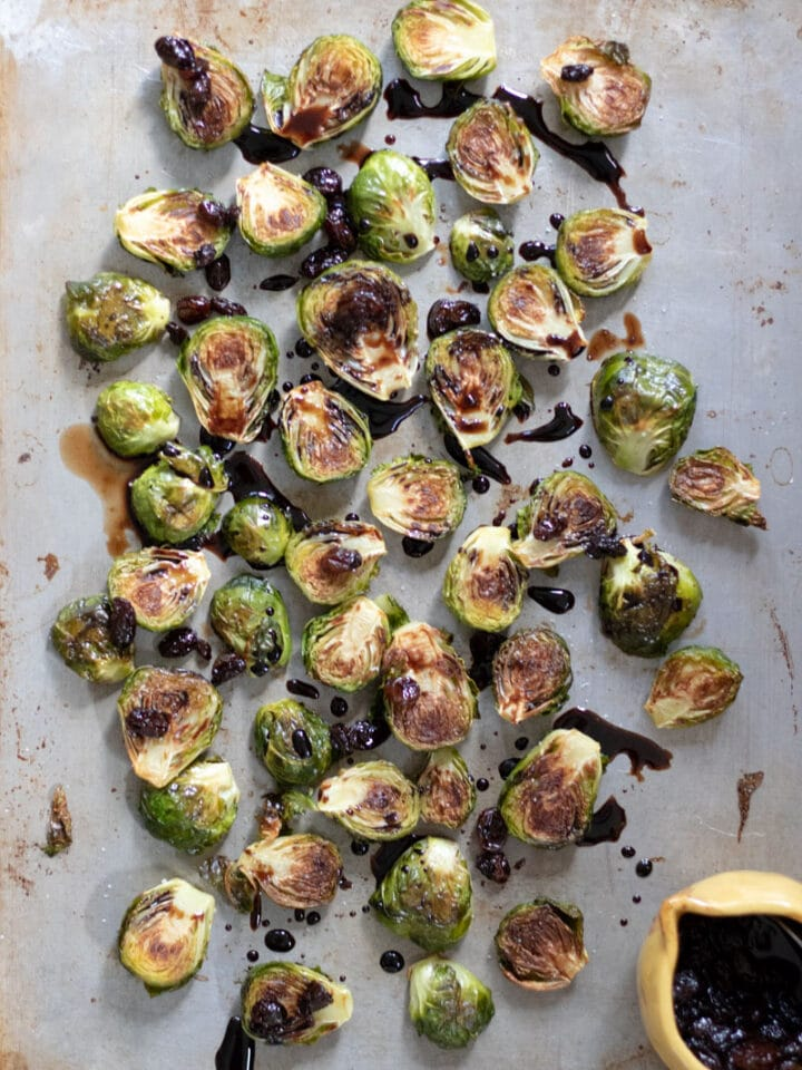 Brussels Sprouts with Balsamic Raisin Glaze-9