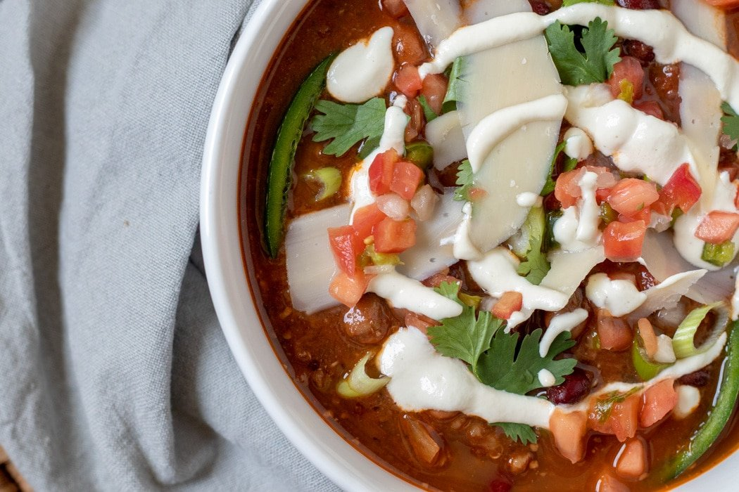 Best Vegan Chili closeup