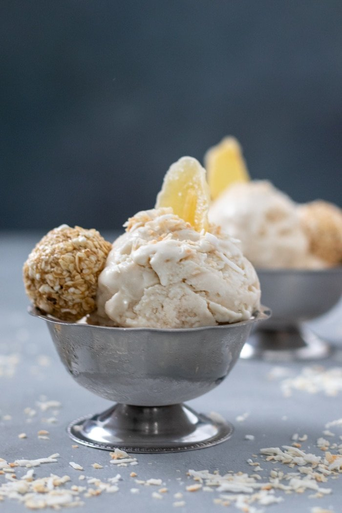 Double Coconut Ginger Ice Cream