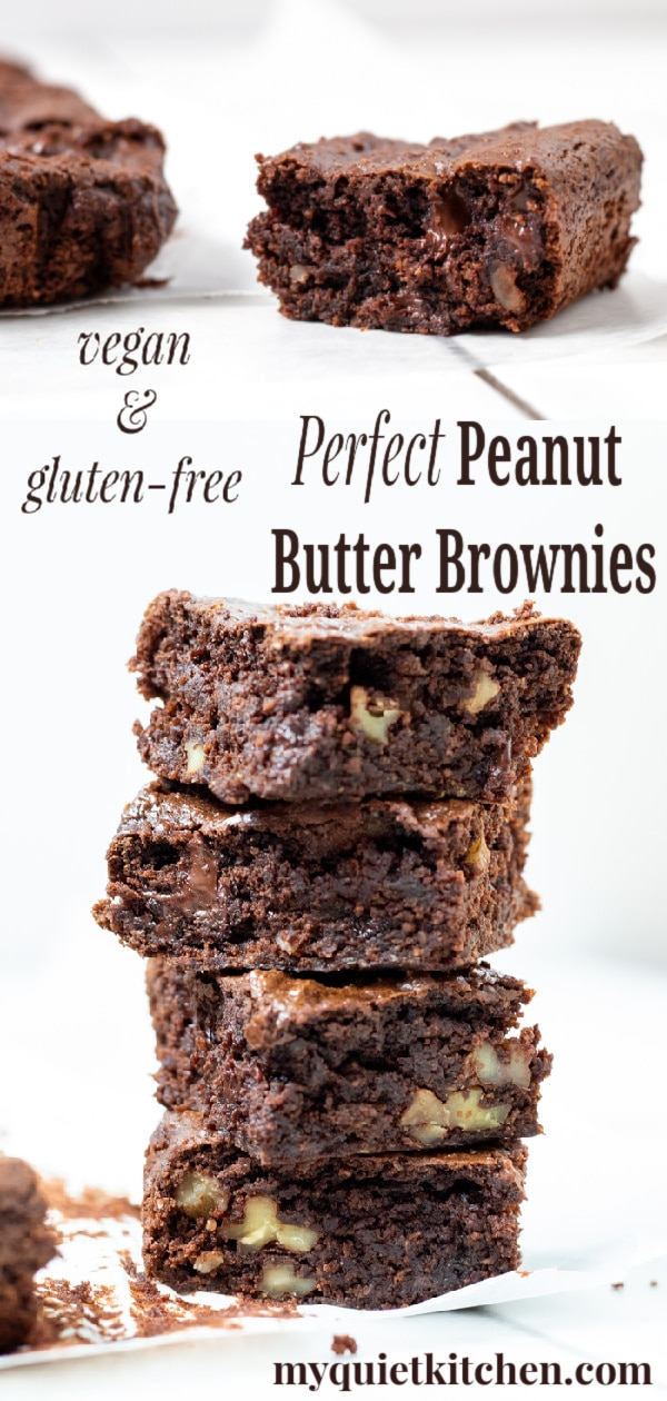 Go-To Peanut Butter Brownies pin for Pinterest