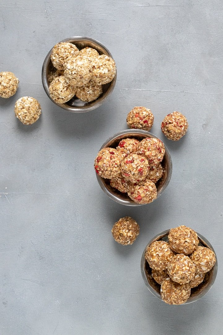 Popped Sorghum Balls in three flavors