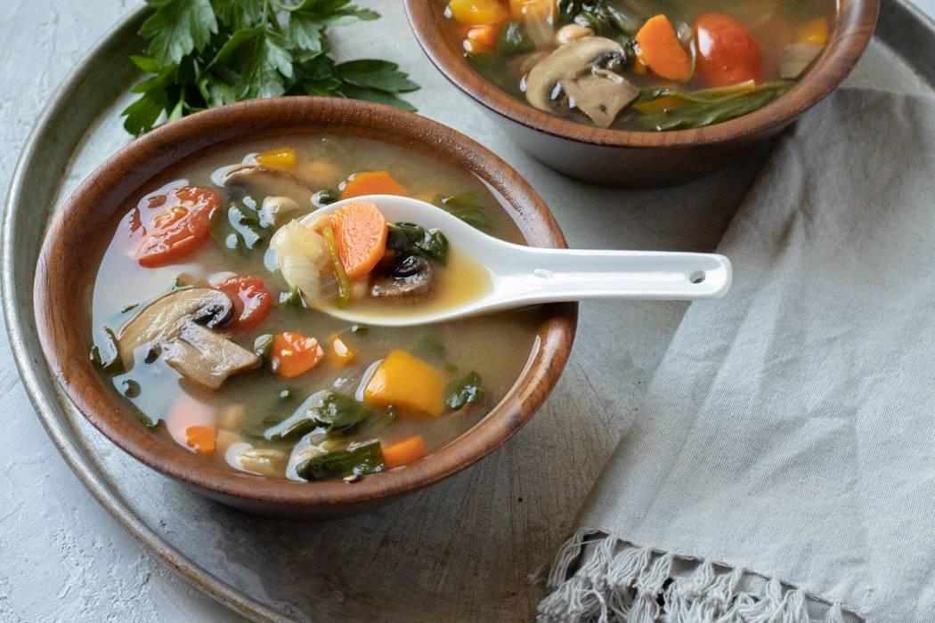 Vacation Soup - so many veggies