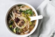 Seared Bok Choy Broth with Noodles-9