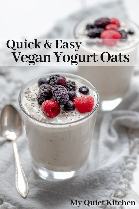 Yogurt Oats pin for Pinterest