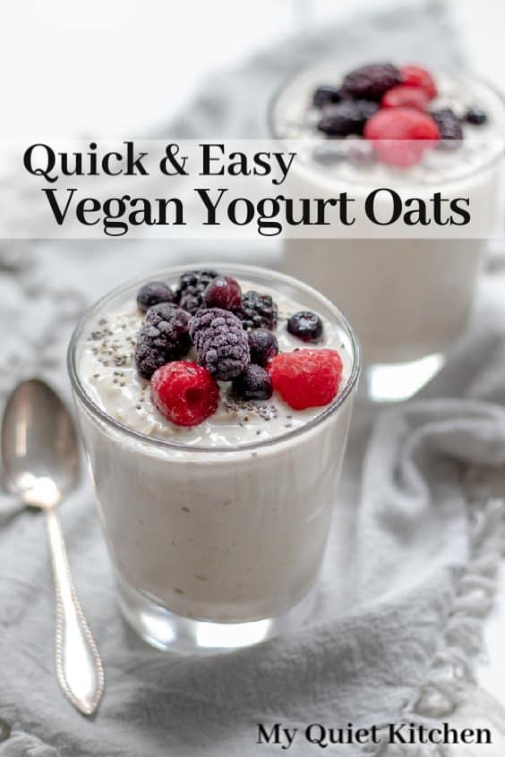 Yogurt Oats pin for Pinterest