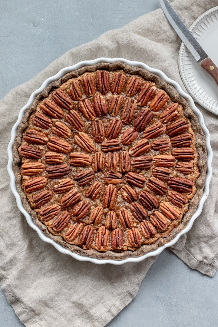 Vegan Bourbon Pecan Pie