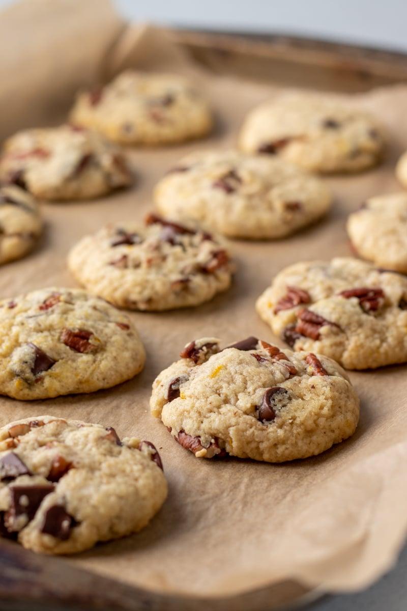 Chocolate Chunk Orange Pecan Cookies