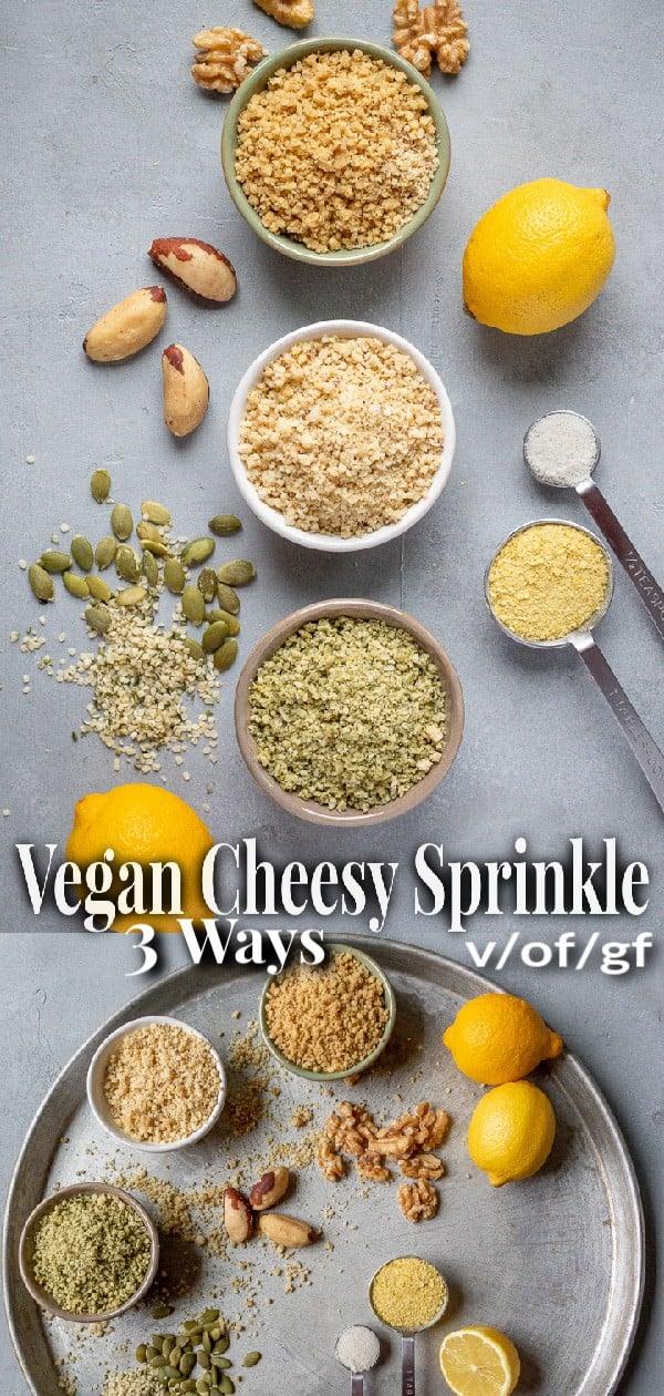 Vegan Cheesy Sprinkle pin for Pinterest