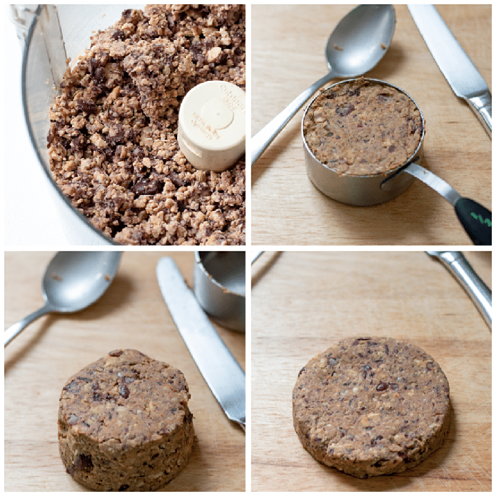 Process photos for Tempeh and Black Bean Sausage Burgers