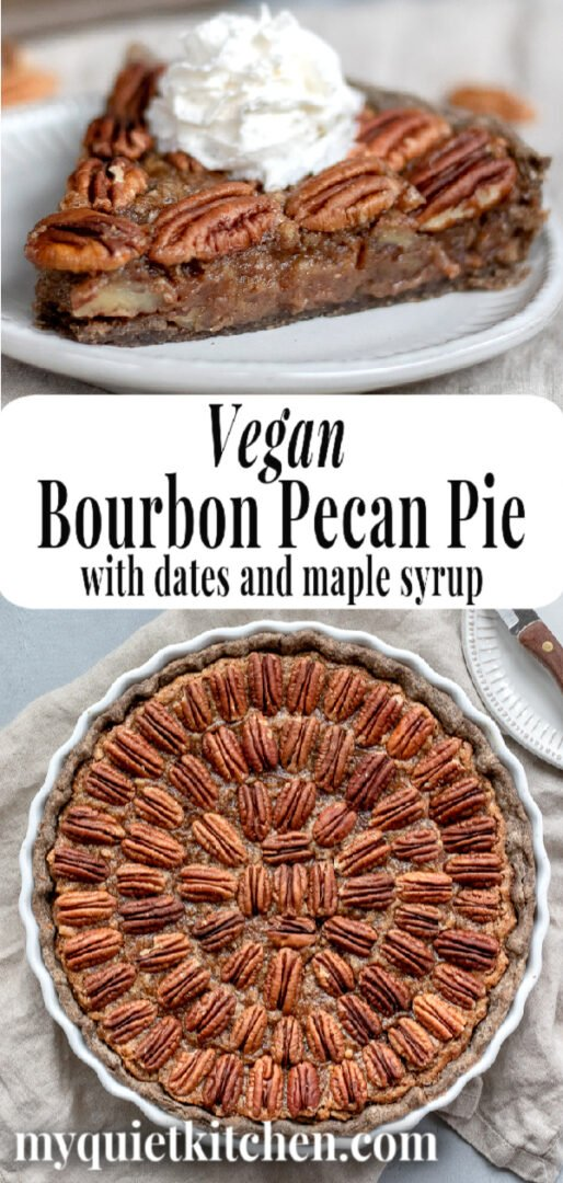 Vegan Pecan Pie pin for Pinterest