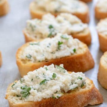 almond ricotta on toast