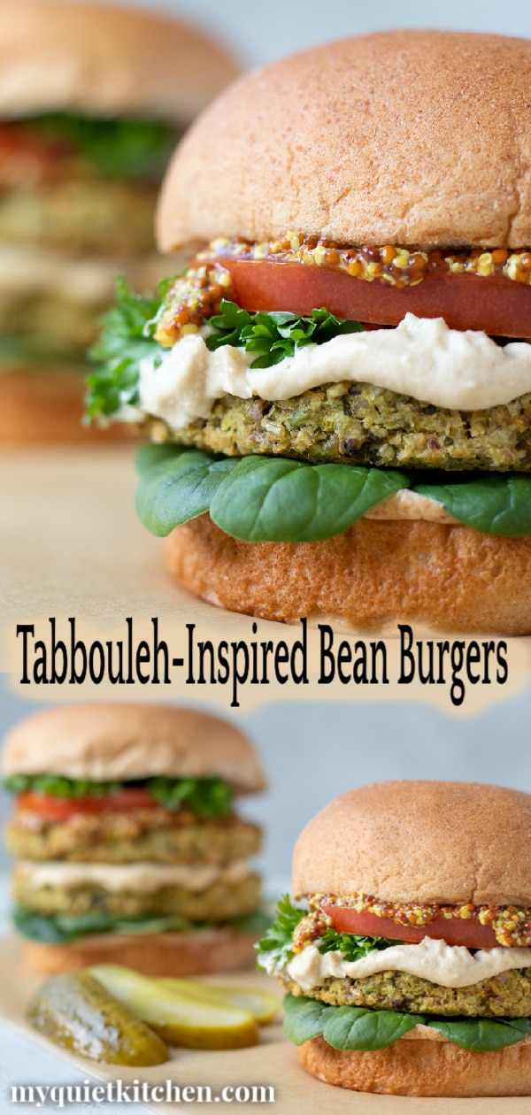 Tabbouleh-Inspired Bean Burgers - Pin