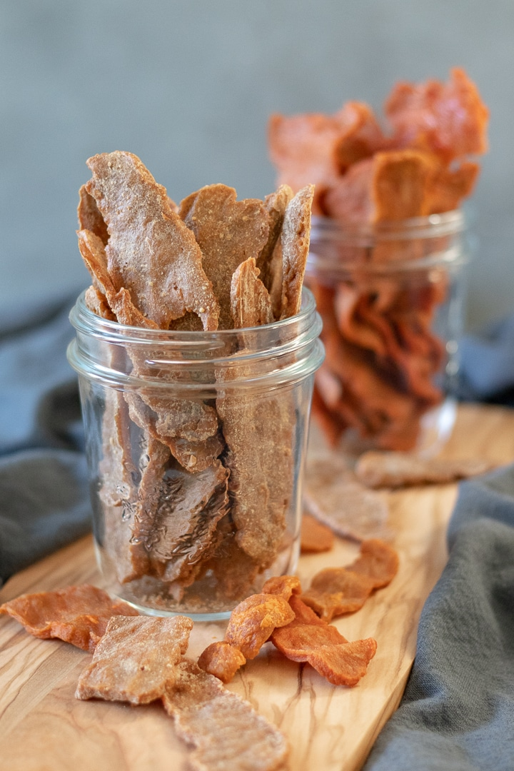 Jerky in glass jars - Thai Peanut and Buffalo flavors