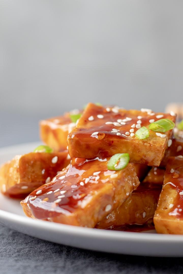 Sticky Sesame Tofu