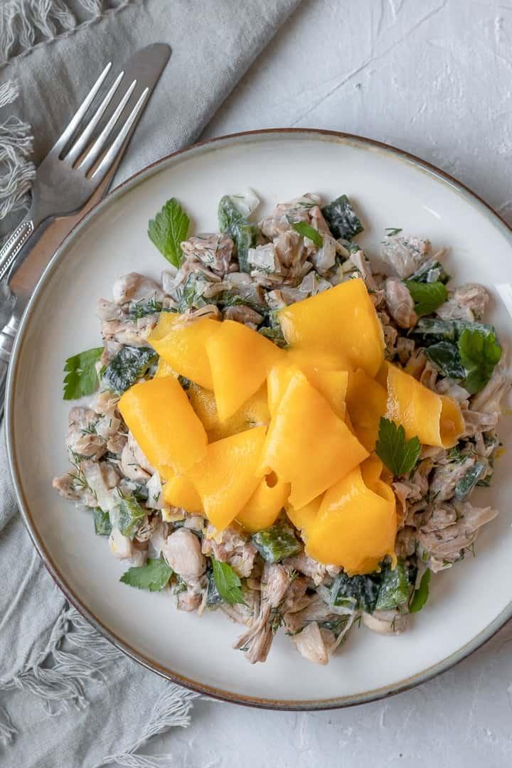 Jackfruit, Mango and Dill Salad