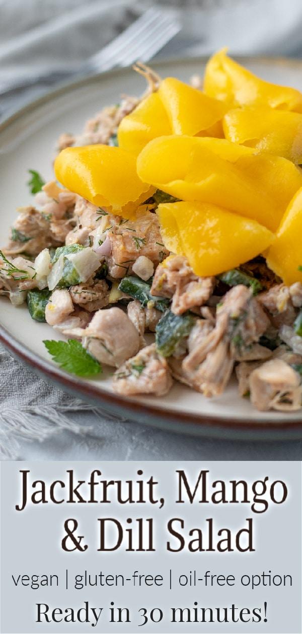 Jackfruit, Mango and Dill Salad pin for Pinterest