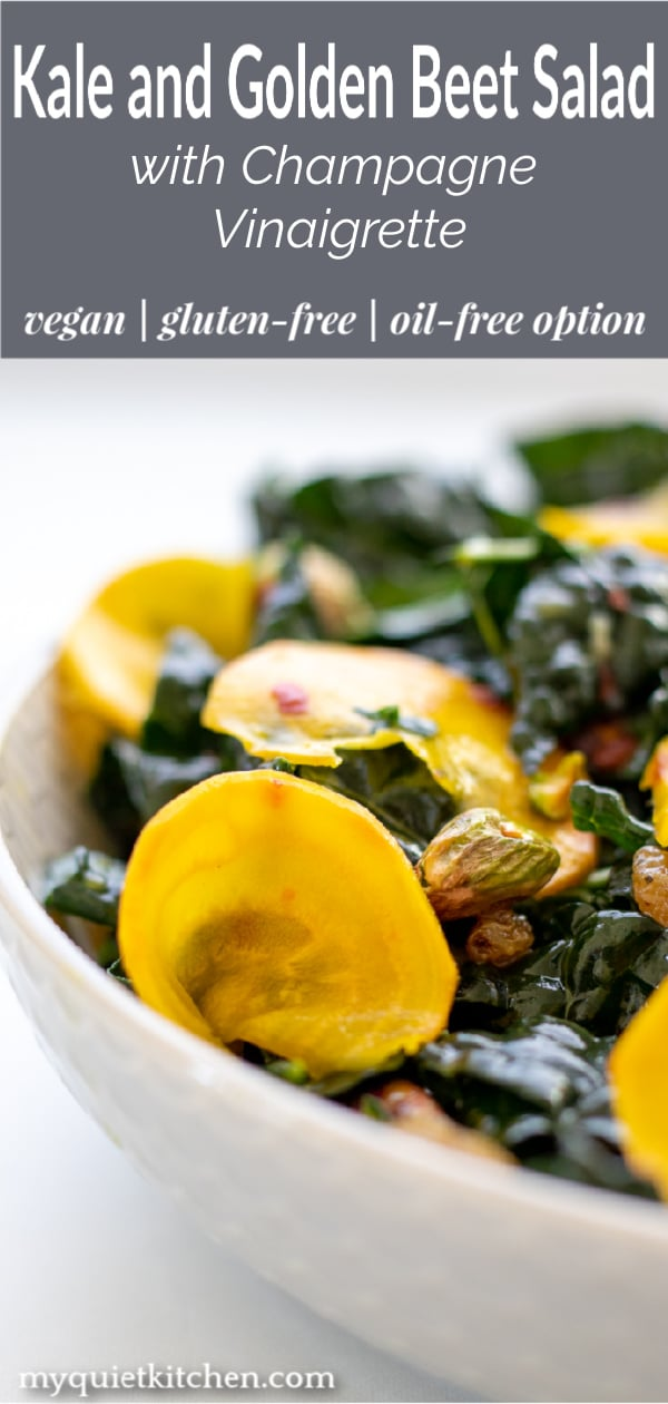 Kale and Golden Beet Salad for Pinterest