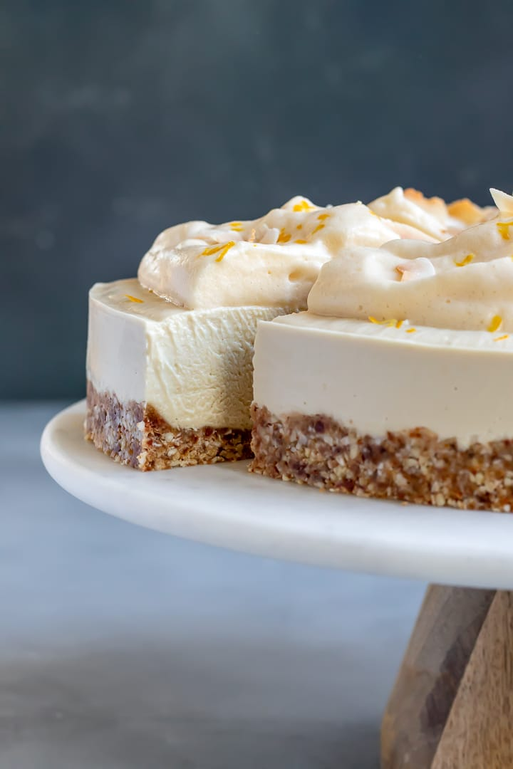 Vegan Meyer Lemon Cheesecake