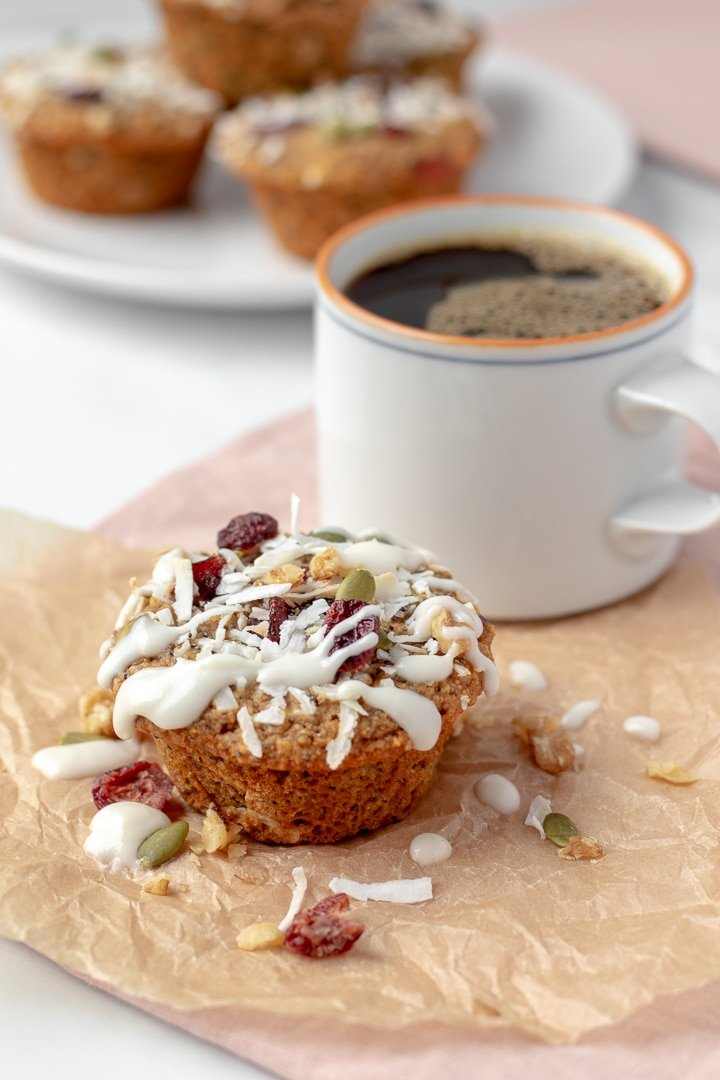 Vegan Breakfast Muffins and a cup of coffee