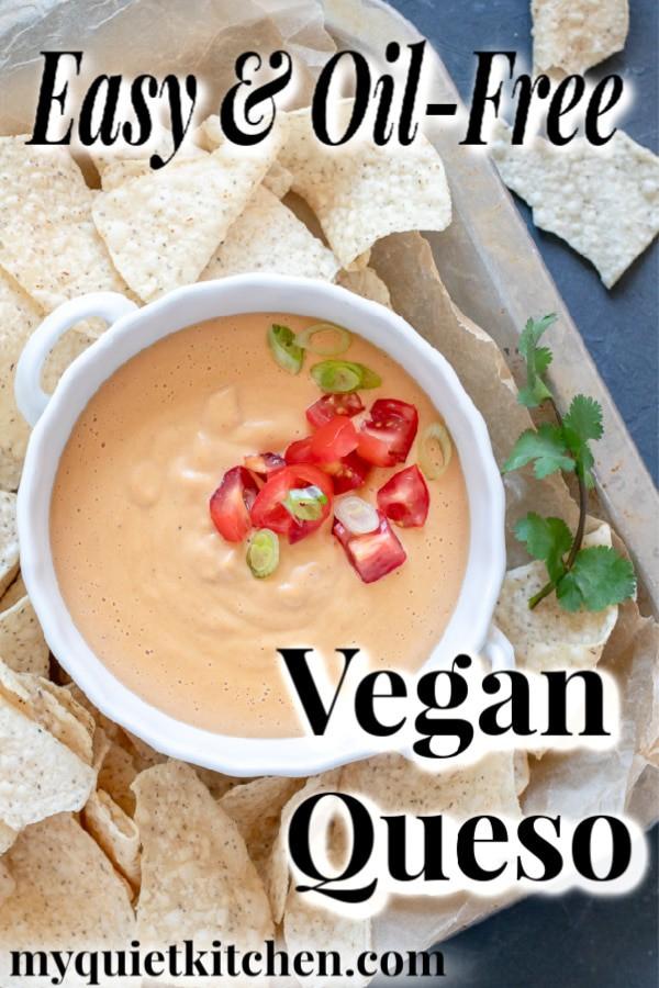 Vegan queso pin for Pinterest