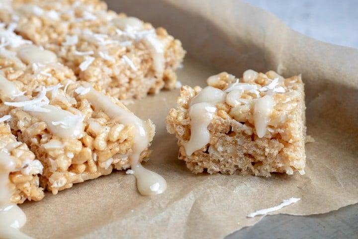 close up of rice krispie treat