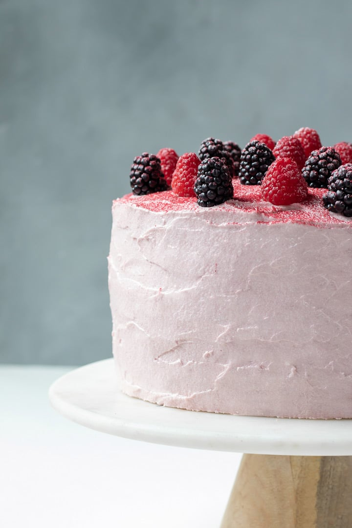 Pleasing Vegan Chocolate Cake With Raspberry Cream Cheese Frosting My Birthday Cards Printable Riciscafe Filternl