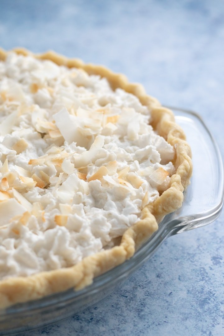 close up shot of pie
