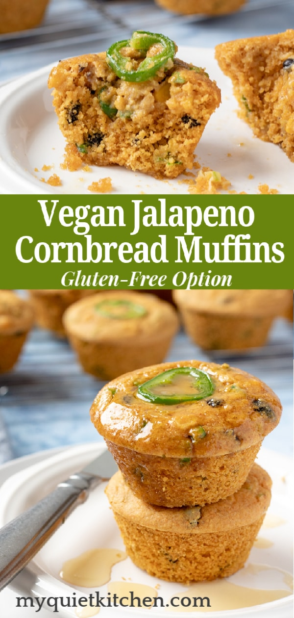 Cornbread muffin pin for Pinterest