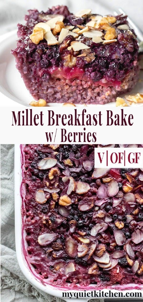 Millet Bake pin for Pinterest