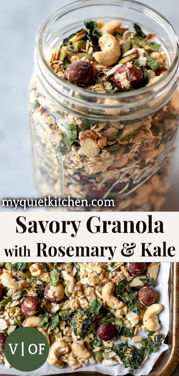 Savory Granola pin for Pinterest
