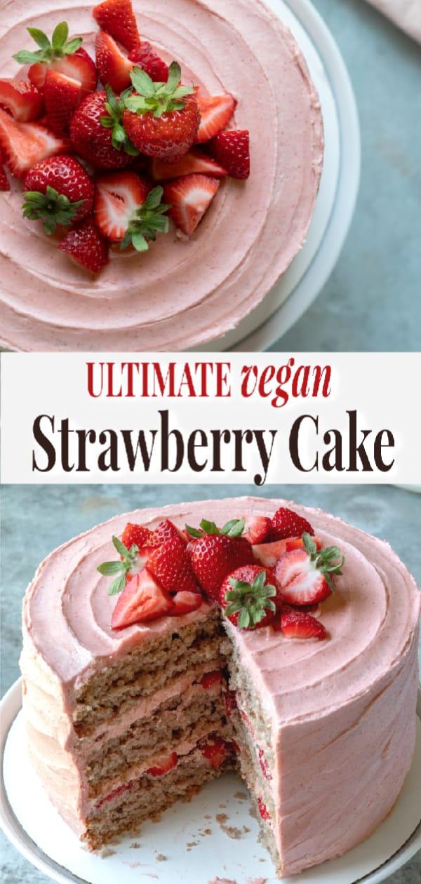 strawberry cake - pin it