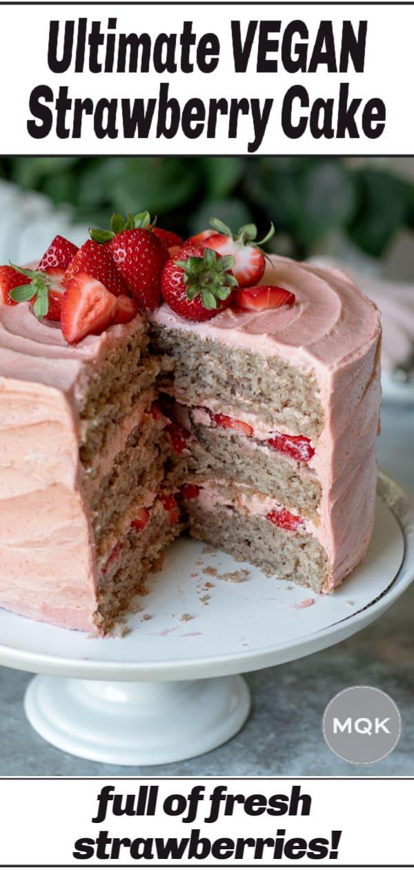 strawberry cake pin for Pinterest