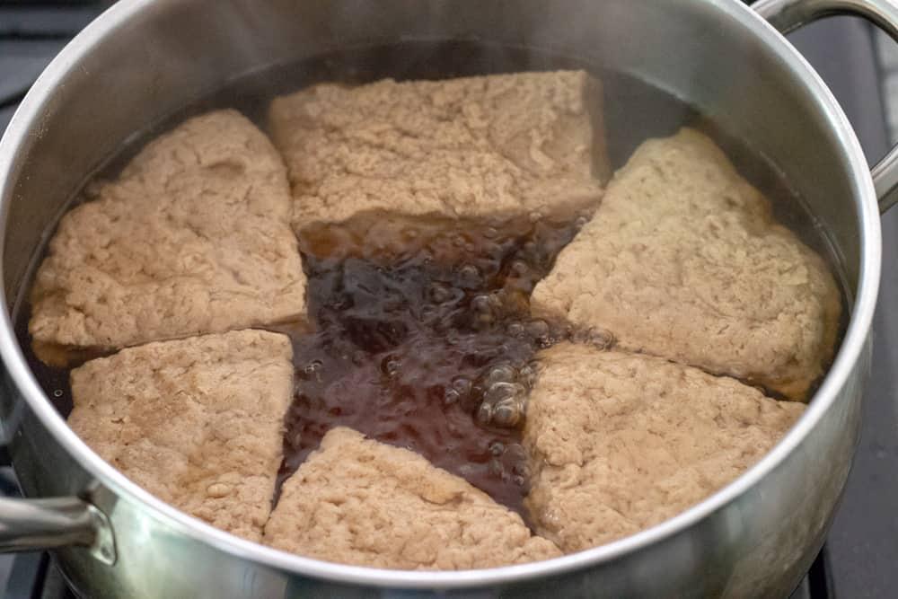 alternate cooking method, simmering in salted water.