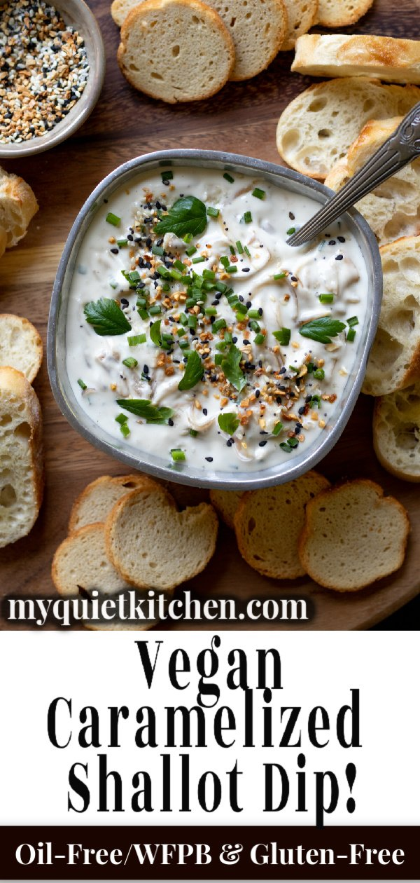 Vegan Shallot Dip pin for Pinterest