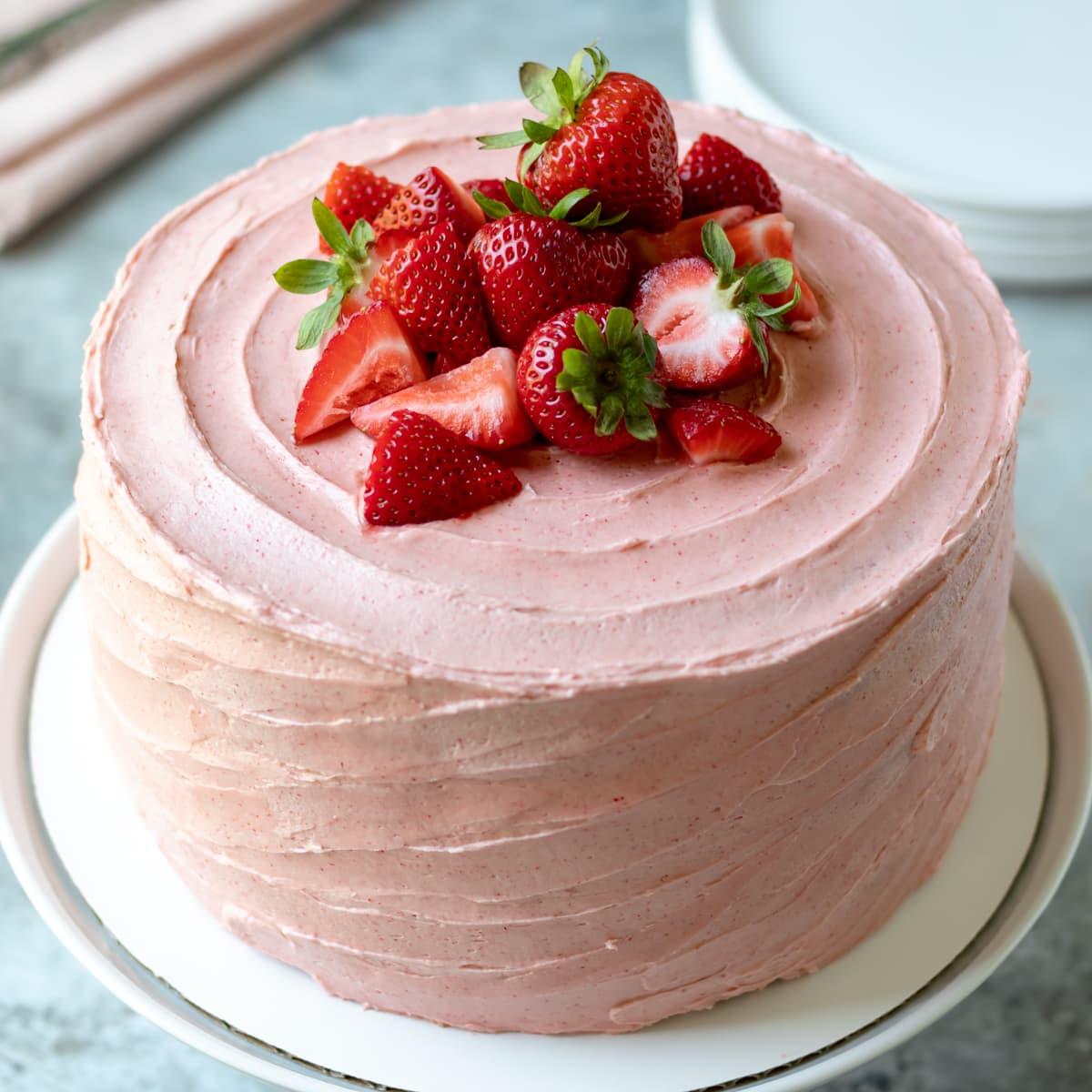 Vegan Strawberry Cake My Quiet Kitchen