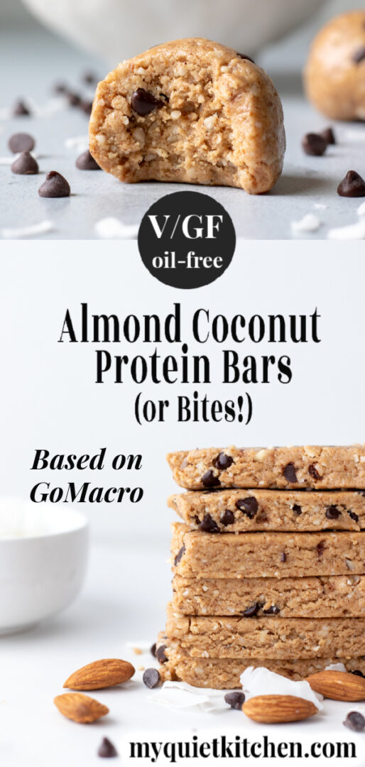 Vegan Protein Bar pin for Pinterest