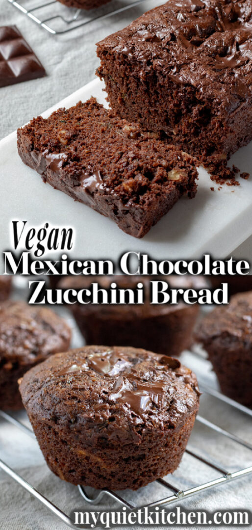 Vegan Chocolate Zucchini Bread pin for Pinterest