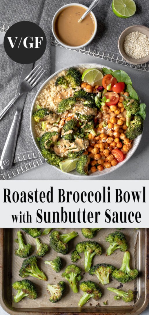 Broccoli Bowl pin for Pinterest