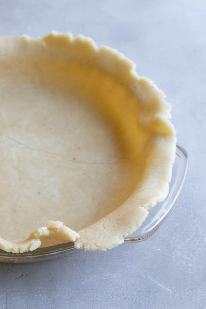 flip the vegan pie dough into a standard 9-inch deep dish pie plate