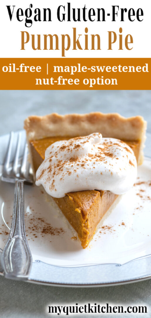 Vegan Pumpkin Pie pin for Pinterest