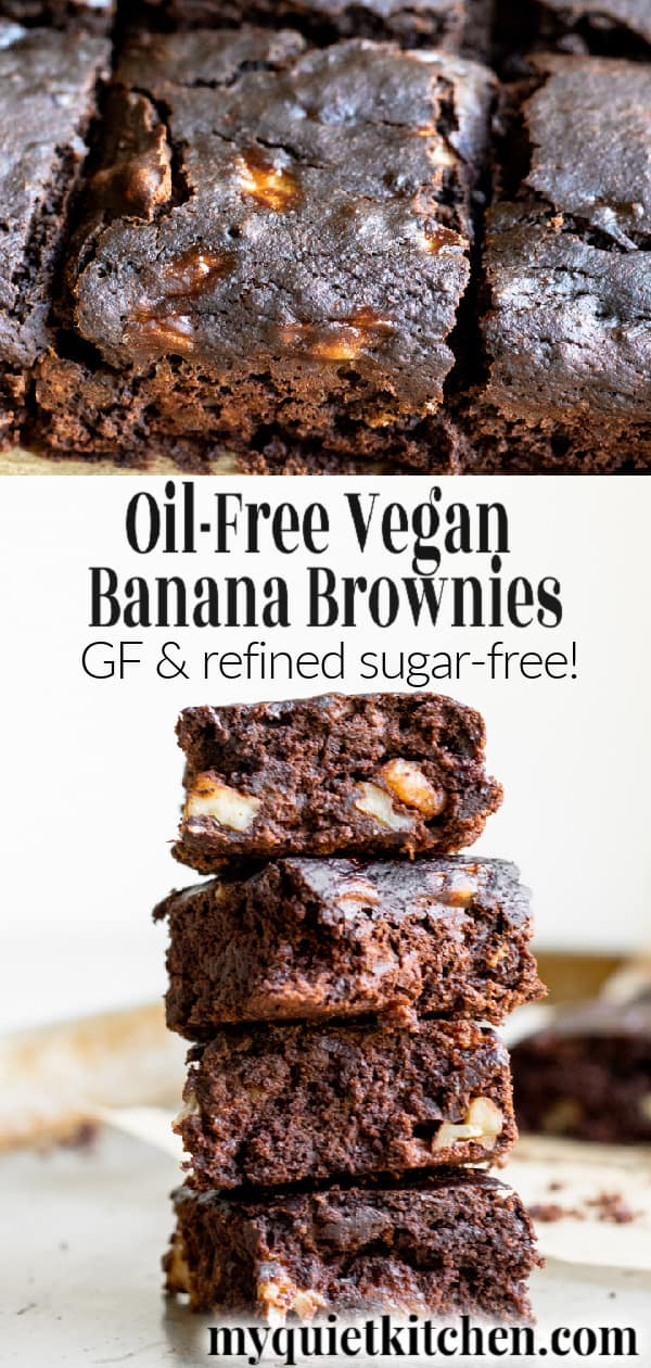 Vegan Banana Brownies pin for Pinterest