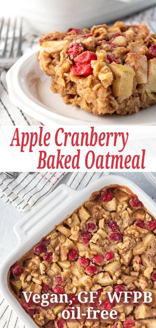 Apple Baked Oatmeal pin for Pinterest