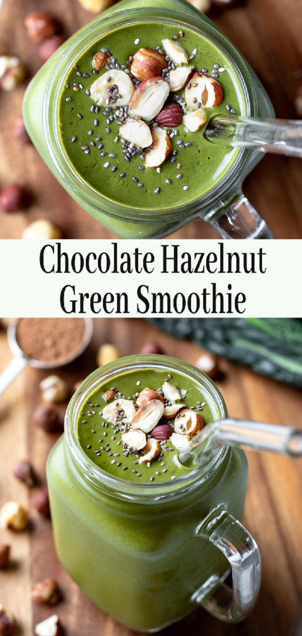 Vegan Green Smoothie pin for Pinterest