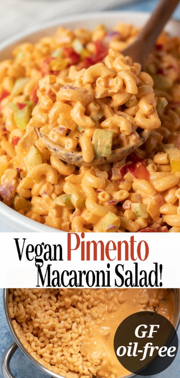 macaroni salad pin for Pinterest
